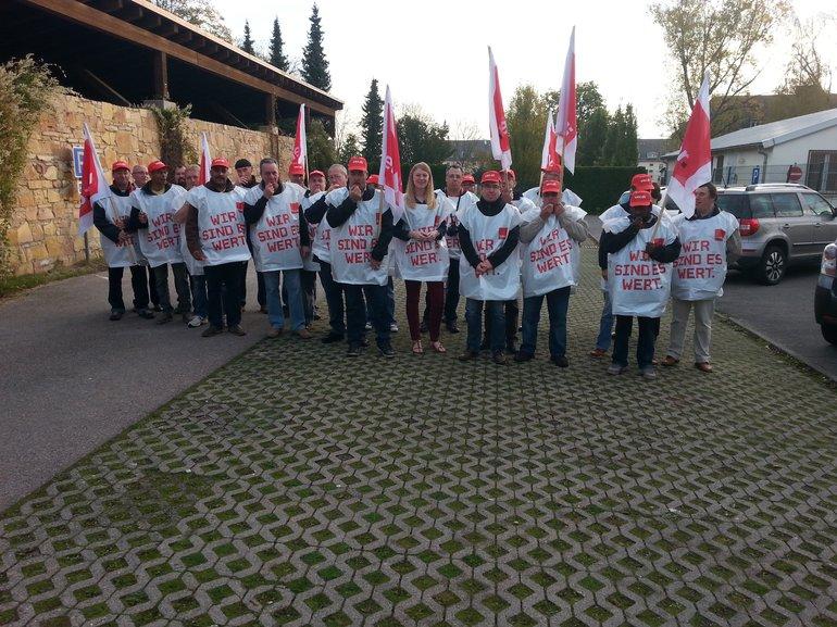 Bild 2: Streik bei den französischen Stationierungsstreikräften