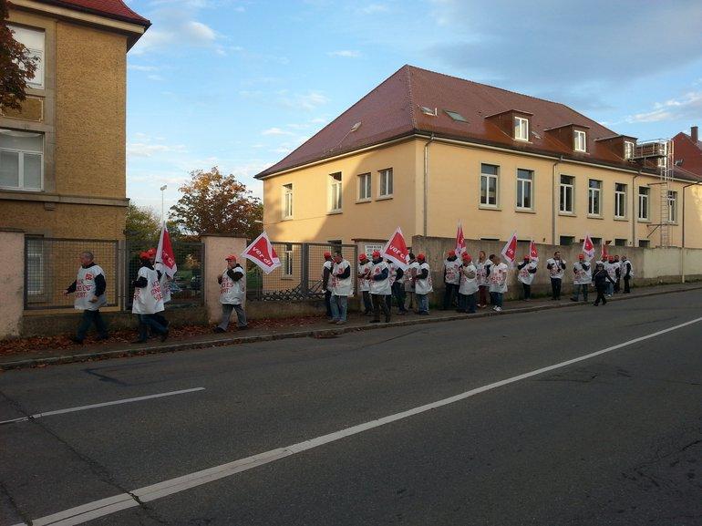Bild 3: Streik bei den französischen Stationierungsstreikräften