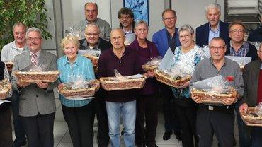 Gewerkschaft ehrt zahlreiche langjährige Mitglieder