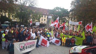 Erfolgreicher Warnstreik an Uniklinik Freiburg