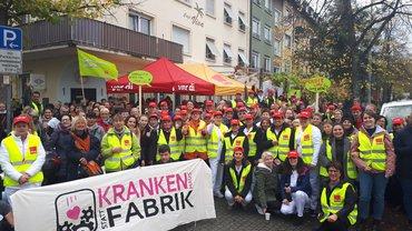 Tarifrunde Uniklinika 2019: Protestkundgebung an der Uniklinik Freiburg am 04.11.2019