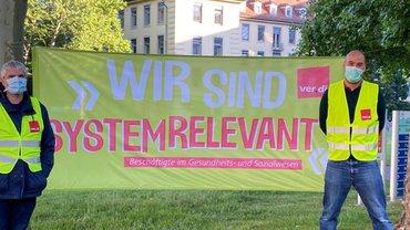 12. Mai 2020 - heute Morgen, an der Uniklinik Freiburg.