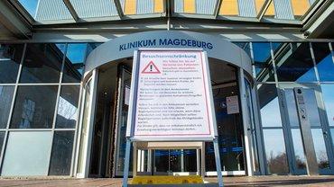 Auch im Klinikum Magdeburg herrschen weiterhin strenge Besuchsregeln wegen der Corona-Pandemie