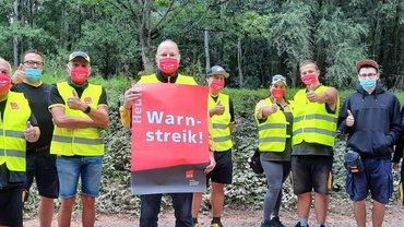 Streik heute beim Deutschen Post Briefzentrum Freiburg