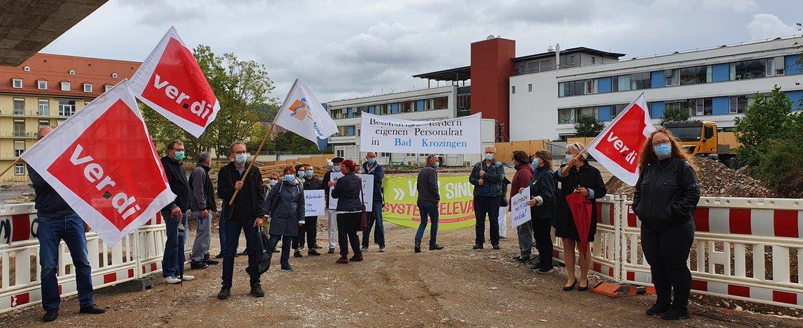 Tarifrunde ÖD 2020: Protest am 25.09.2020 am UHZ