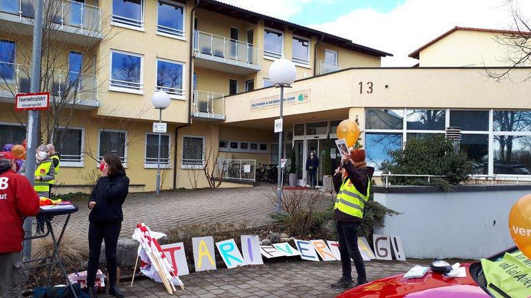 Post-nach-Berlin-Aktion am 17.02.2021 in Bad Säckingen