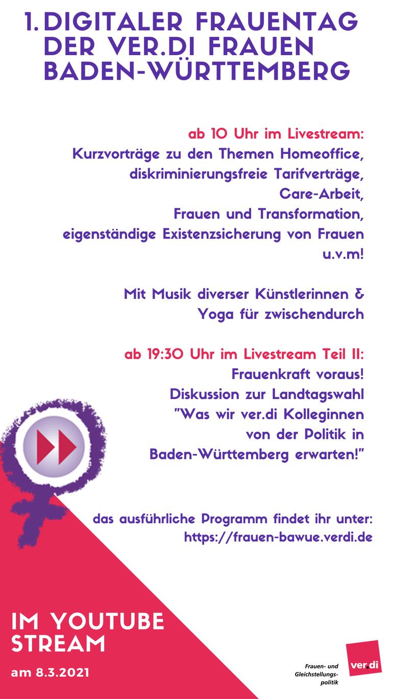1. Digitaler Frauentag der ver.di Frauen Baden-Württemberg