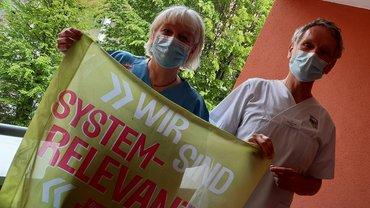 Kranken- und Altenpfleger*innen aus der Regio protestieren und fordern Gesundheitspolitik zum Handeln auf!
